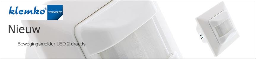 Klemko LED Bewegingsmelder wand Inbouw 400W 180° L=8M 870544  Klemko 870544 IB-PIR-W/TZS is een bewegingsmelder om direct in de inbouwdoos in de wand te monteren ter vervanging van de gewone schakelaar. Door de detectiehoek van 180° kan men deze detector niet ongezien passeren. De LED bewegingsmelder wordt twee-draads aangesloten. Deze bewegingsmelder is uitermate geschikt toiletten, gangen kasten werkkasten opbergruimten. Zeer geschikt voor LED De minimale belasting is 3W en maximaal 100VA daardoor zeer geschikt om alle soorten LED verlichting te schakelen